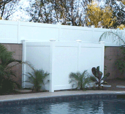 Vinyl Fence Enclosures Vinyl Solid Fencing Santa