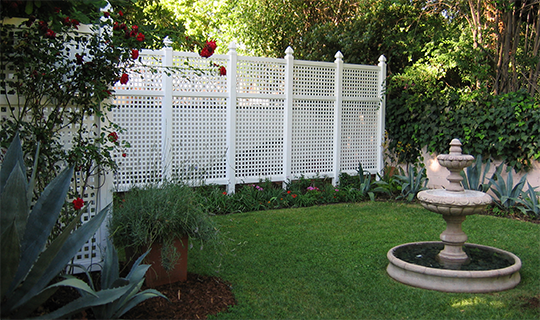Vinyl Semi Privacy Fencing Style With Privacy Available